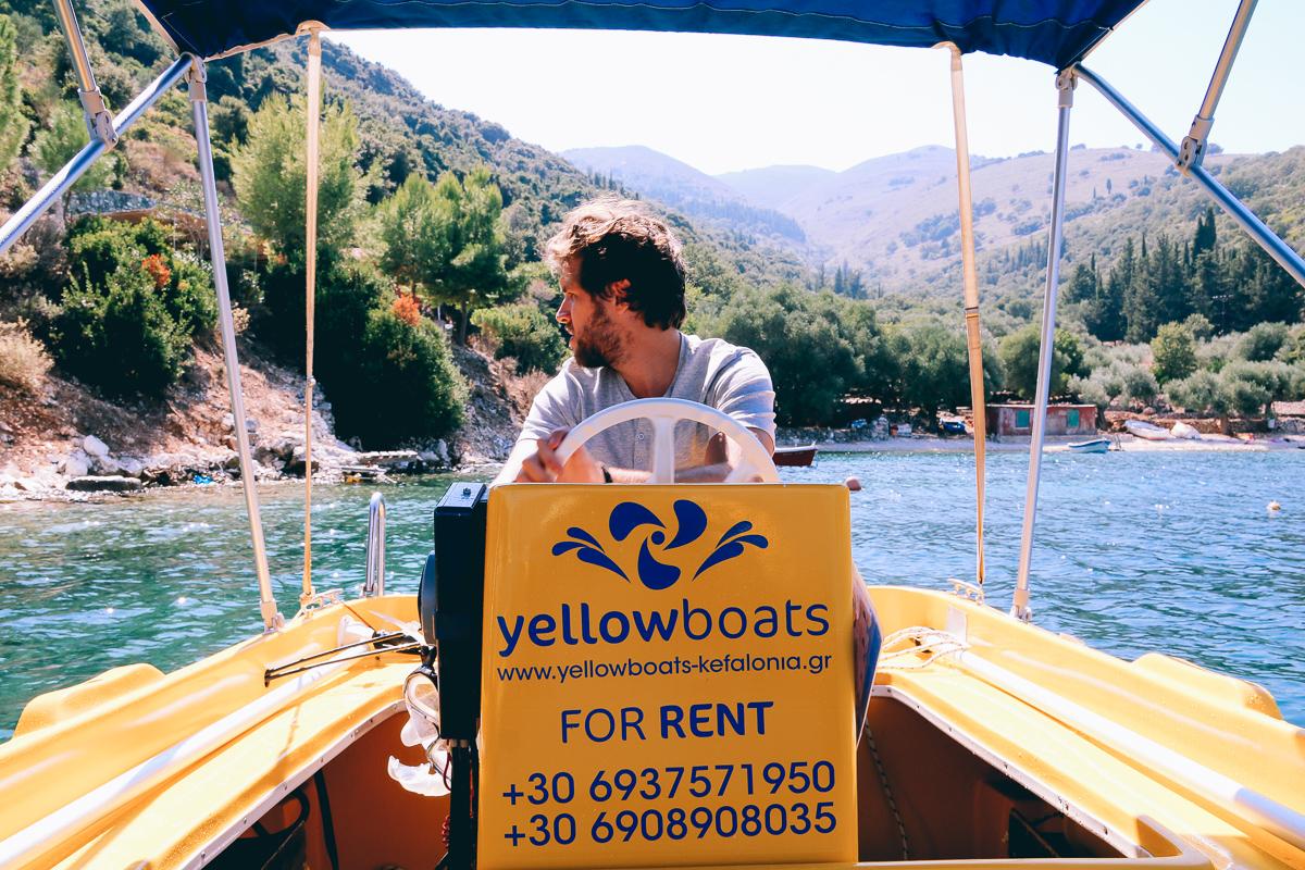 Yellow Boats kefalonia bootje huren
