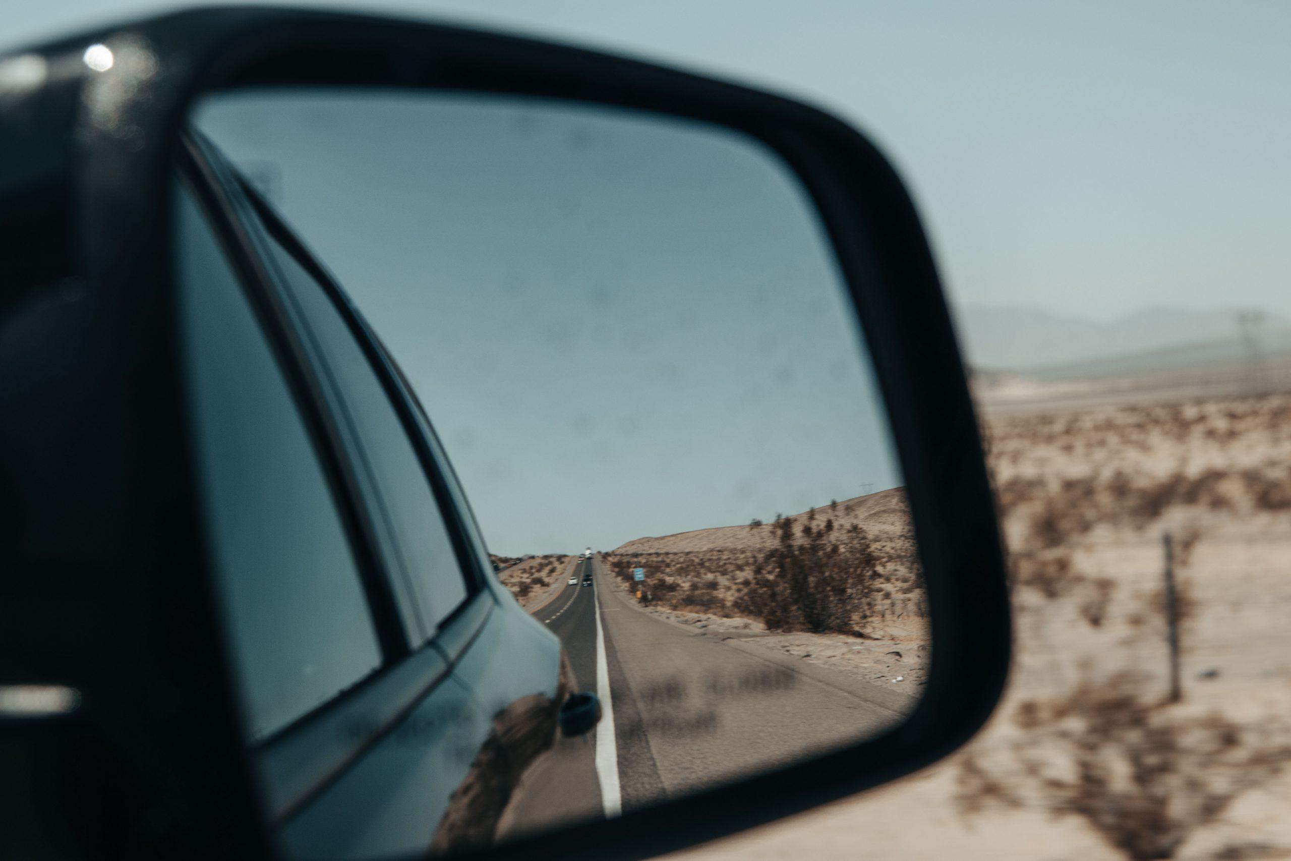 Rijden door de Mojavewoestijn